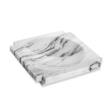 Haven Marble Candy Dish - Arabescato | Gracious Style