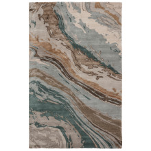 GES37 Genesis Conley Teal/Light Gray Rugs | Gracious Style