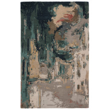GES46 Genesis Luella Teal/Gray Rugs | Gracious Style