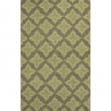 CAT21 Catalina Etoile Winter Pear/Deep Lichen Green Indoor/Outdoor Rug