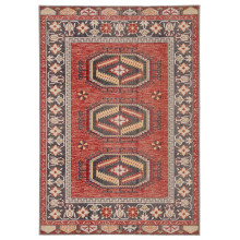 POL12 Polaris Miner Red/Yellow Rugs | Gracious Style