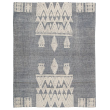 RIZ07 Rize Torsby Blue/Ivory Rugs | Gracious Style