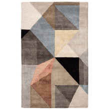 SYN02 Syntax Scalene Gray/Blue Rugs | Gracious Style