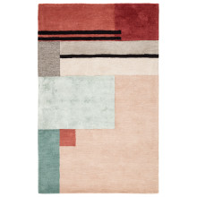 SYN04 Syntax Segment Pink/Red Rugs | Gracious Style