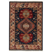 VBA05 Village By Artemis Karter Blue/Red Rugs | Gracious Style