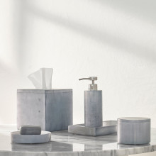 Alabaster Grey Bath Accessories | Gracious Style