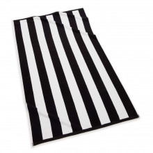 Cabana Stripe Beach Towel 40 x 70 in Black | Gracious Style