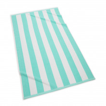Cabana Stripe Beach Towel 40 x 70 in Turquoise | Gracious Style
