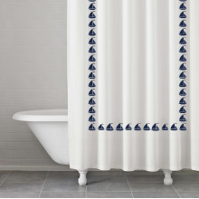 Grand Haven Navy Shower Curtain | Gracious Style