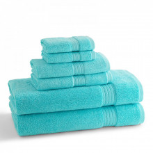 KassaDesign Brights Bath Towels Caribbean Blue | Gracious Style