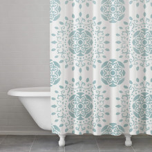 McCoy Medallion Blue Shower Curtain | Gracious Style