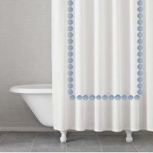 Trinidad Raindrop Shower Curtain | Gracious Style