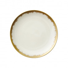Aura Opal Dinnerware with Gold Brushstrokes