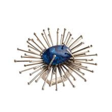 Flare Napkin Ring Cobalt/Silver