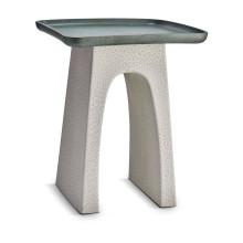 Tulum Side Table Green + Grey