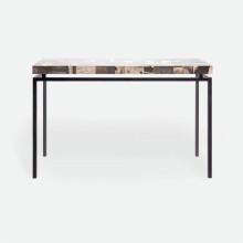 Benjamin Console Flat Black Steel/Petrified Wood Dark Mix | Gracious Style