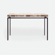 Benjamin Console Flat Black Steel/Petrified Wood Light Mix | Gracious Style