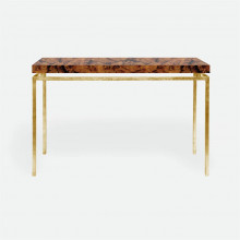 Benjamin Console Texturized Gold Steel/Shell Young Pen | Gracious Style