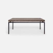 Benjamin Coffee Table Flat Black Steel/Realistic Faux Shagreen Dark Mushroom | Gracious Style