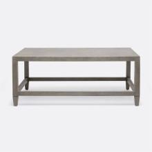 Conrad Coffee Table Seal 48 in L x 27 in W x 19 in H Faux Raffia | Gracious Style