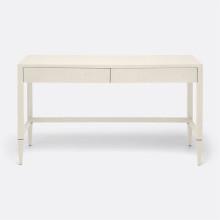 Conrad Desk Off-White 54 in L x 20 in W x 31 in H Faux Raffia | Gracious Style
