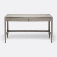 Conrad Desk Seal 54 in L x 20 in W x 31 in H Faux Raffia | Gracious Style