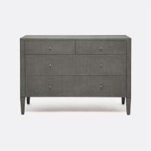 Conrad Dresser Black 48 in L x 20 in W x 34 in H Faux Raffia | Gracious Style