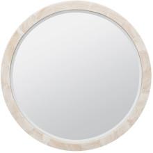 Albert Natural Clamstone Round Mirror | Gracious Style