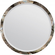 Albert Silver Mother of Pearl Round Mirror | Gracious Style