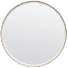 Emma Sand Realistic Faux Shagreen Round Mirror | Gracious Style