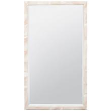 Sidney Natural Clamstone Rectangular Mirror | Gracious Style
