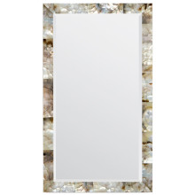 Sidney Silver Mother of Pearl Shell Rectangular Mirror | Gracious Style