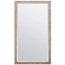 Sidney Warm Silver Faux Silk Rectangular Mirror | Gracious Style