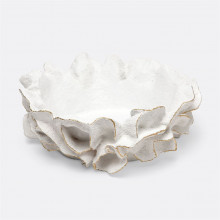 Coco Bowl White/Gold Faux Coral | Gracious Style