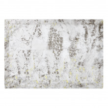 Argento 14 x 20 in Placemats Gray Metallic with Lime, Set of Four | Gracious Style