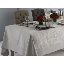 Aspen Coated Stain-Resistant Table Linens, Gray | Gracious Style