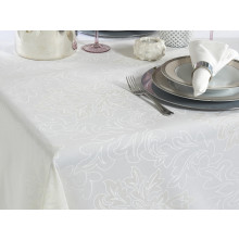 Aspen Coated Stain-Resistant Table Linens, White | Gracious Style