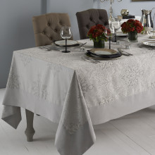 Aspen Stain-Resistant Table Linens, Gray | Gracious Style