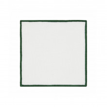Bel Air Cocktail Napkins Green 6 x 6 in, Set of Four | Gracious Style
