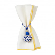 Bel Air Yellow 20 x 20 Stain-Resistant Napkins, Set of 4 | Gracious Style