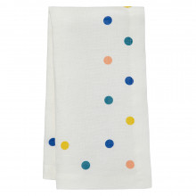 Belle 20 x 20 in Napkins White with Multicolor Dots, Set of Four | Gracious Style