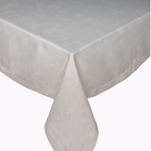 Brooklyn Coated Stain-Resistant Table Linens, Off-White | Gracious Style