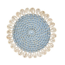 Capiz Coasters S/4 with Gift box Light Blue | Gracious Style