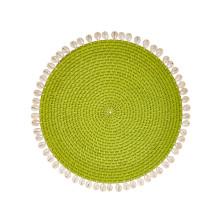Capiz Placemats Set of Four Green | Gracious Style