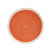 Capiz Placemats S/4 Orange | Gracious Style
