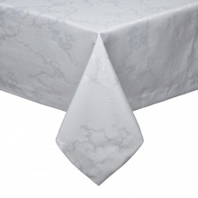 Carerra Gray Stain-Resistant Damask Table Linens | Gracious Style
