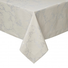 Carerra Taupe Stain-Resistant Damask Table Linens | Gracious Style