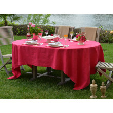Cartagena Coated Stain-Resistant Table Linens, Fuchsia | Gracious Style