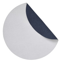 Chic Denim Placemats Reversible Round White and Navy, Set of Four | Gracious Style