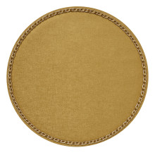 Coco Placemats Gold 15 in round, Set of Four | Gracious Style